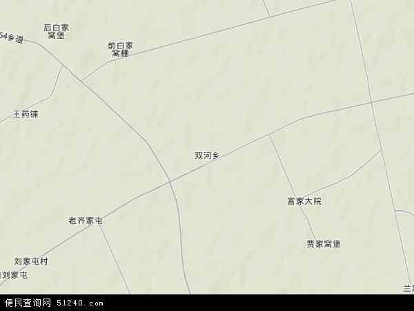 中国吉林省四平市梨树县双河乡地图(卫星地图)