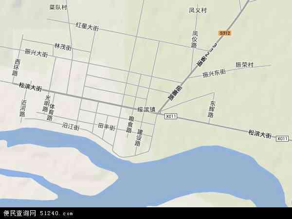 中国黑龙江省鹤岗市绥滨县绥滨西林场地图(卫星地图)