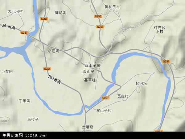 中国河北省秦皇岛市青龙满族自治县双山子镇地图