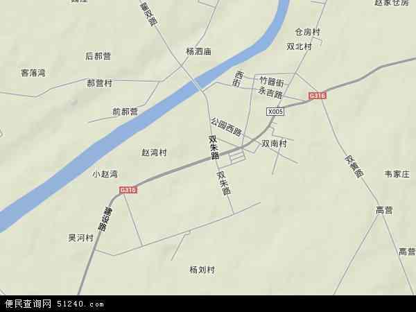 中国湖北省襄阳市襄州区双沟镇地图(卫星地图)