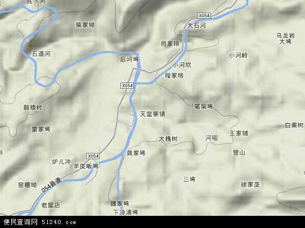 中国安徽省六安市金寨县天堂寨镇地图(卫星地图)