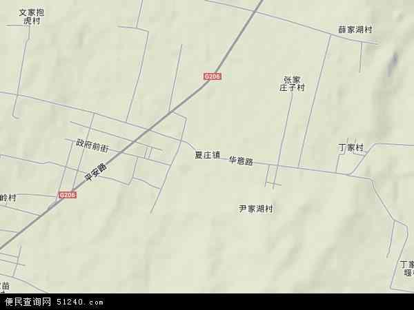 中国山东省日照市莒县夏庄镇地图(卫星地图)