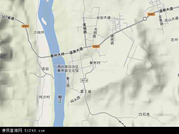 中国广西壮族自治区来宾市象州县象州镇地图