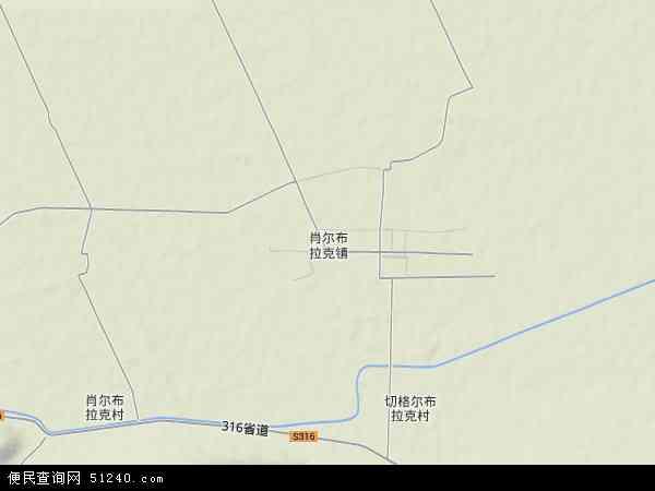 中国新疆维吾尔自治区伊犁哈萨克自治州新源县肖尔布拉克镇地图(卫星