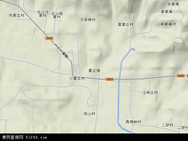 中国山东省威海市荣成市夏庄镇地图(卫星地图)