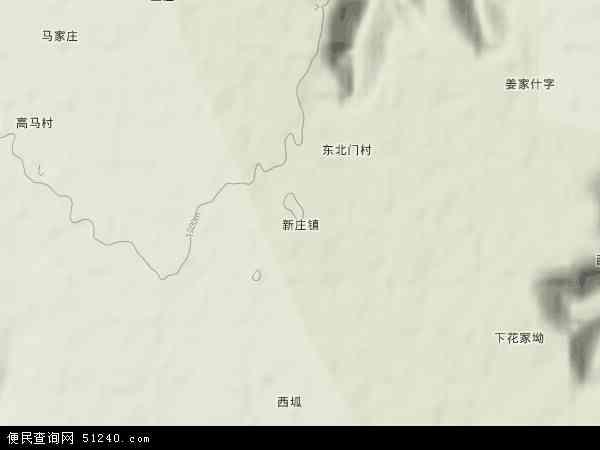 中国甘肃省庆阳市宁县新庄镇地图(卫星地图)图片