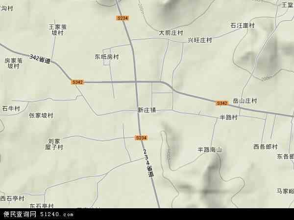 中国山东省临沂市费县新庄镇地图(卫星地图)