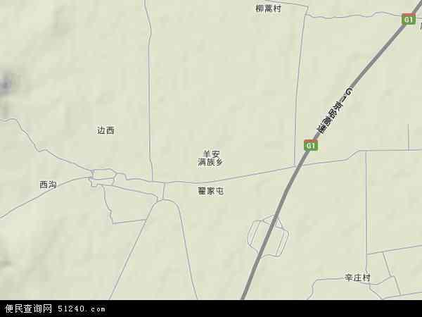 中国辽宁省葫芦岛市兴城市羊安满族乡地图(卫星地图)