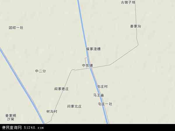 中国甘肃省酒泉市金塔县中东镇地图(卫星地图)