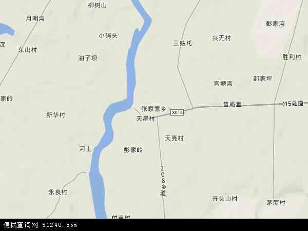 张家塞乡高清卫星地图 张家塞乡2018年卫星地图 中国湖南省益阳市