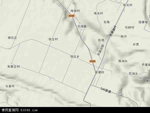 中国山西省临汾市浮山县张庄乡地图(卫星地图)图片