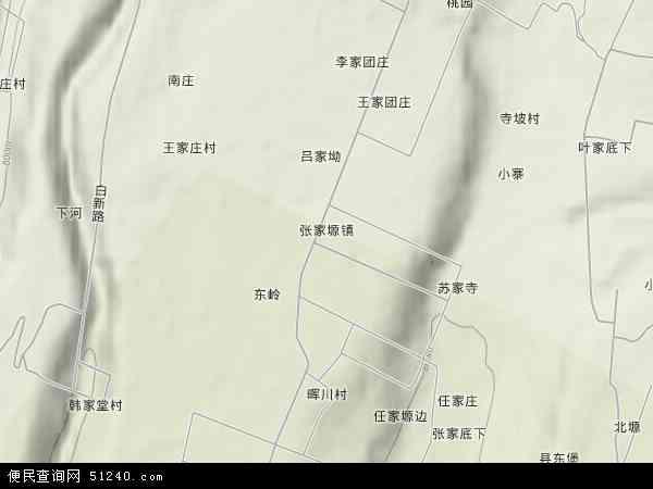 中国陕西省宝鸡市千阳县张家塬镇地图(卫星地图)