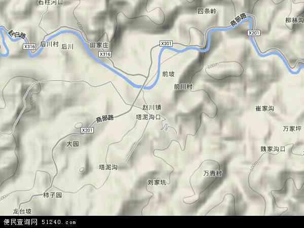 赵川镇地图 赵川镇卫星地图 赵川镇高清航拍地图 赵川镇高清卫星地图