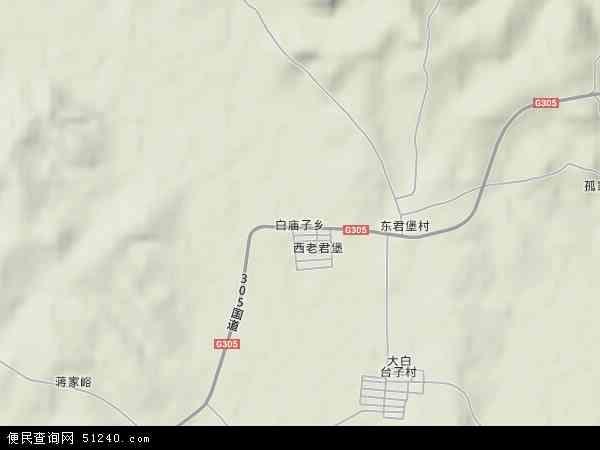 中国辽宁省锦州市义县白庙子乡地图(卫星地图)