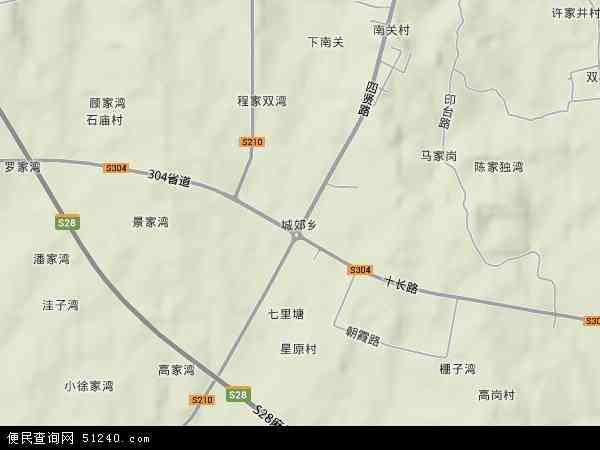 中国湖北省随州市广水市城郊乡地图(卫星地图)图片