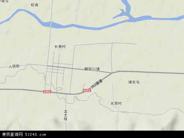 中国吉林省延边朝鲜族自治州延吉市朝阳川镇地图
