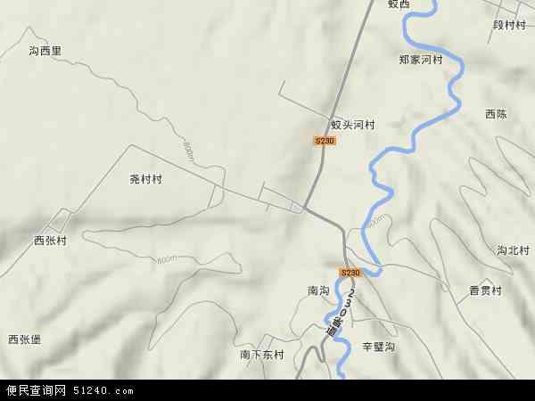 中国山西省临汾市浮山县东张乡地图(卫星地图)图片