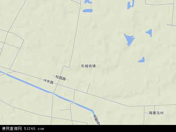 中国河北省保定市涿州市东城坊镇地图(卫星地图)