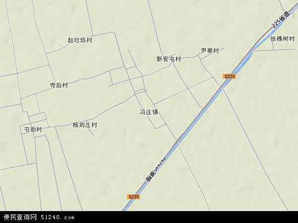 中国河南省新乡市获嘉县冯庄镇地图(卫星地图)