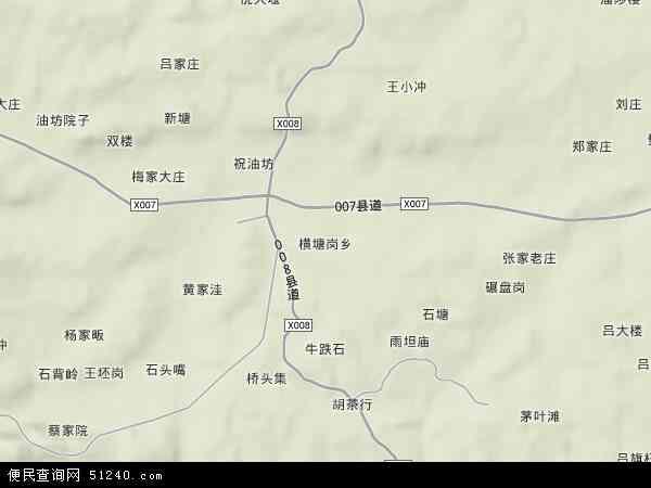 中国安徽省六安市金安区横塘岗乡地图(卫星地图)