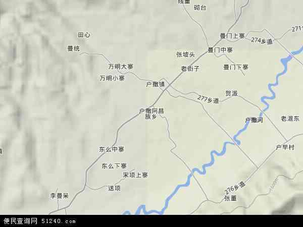 户撒阿昌族乡地图 - 户撒阿昌族乡卫星地图