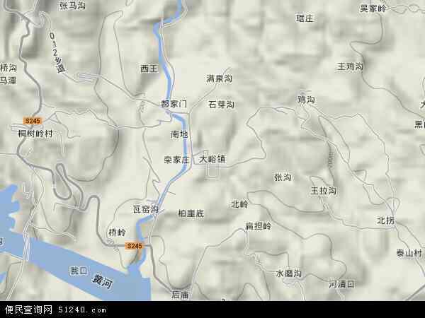 济源市大峪镇地图 济源市大峪镇卫星地图 济源市大峪镇高清航拍地图