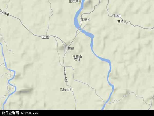 马鞍山农场地形地图