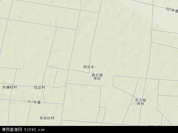中国河北省衡水市武强县孙庄乡地图(卫星地图)