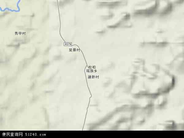 中国湖南省永州市江永县松柏瑶族乡地图(卫星地图)