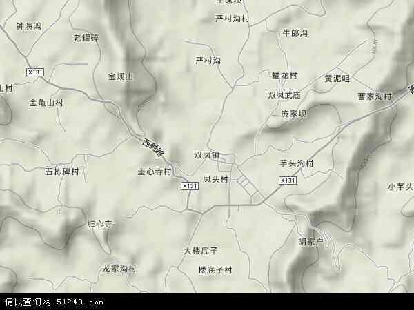 双凤镇地图 - 双凤镇卫星地图 - 双凤镇高清航拍地图