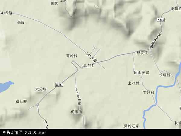 塔桥园艺场地图 - 塔桥园艺场卫星地图