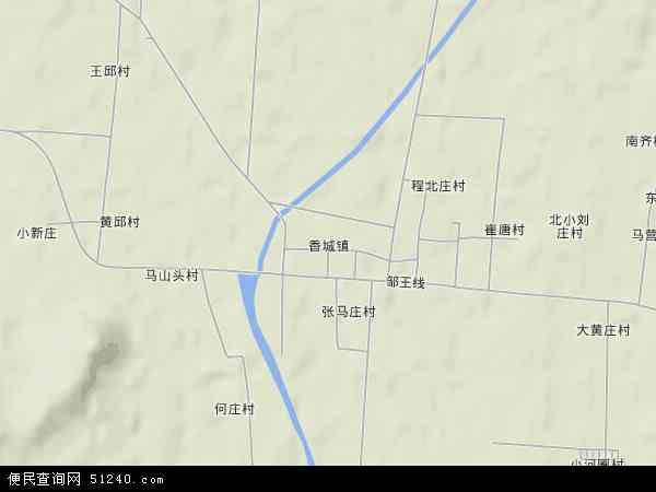 中国山东省济宁市邹城市香城镇地图(卫星地图)