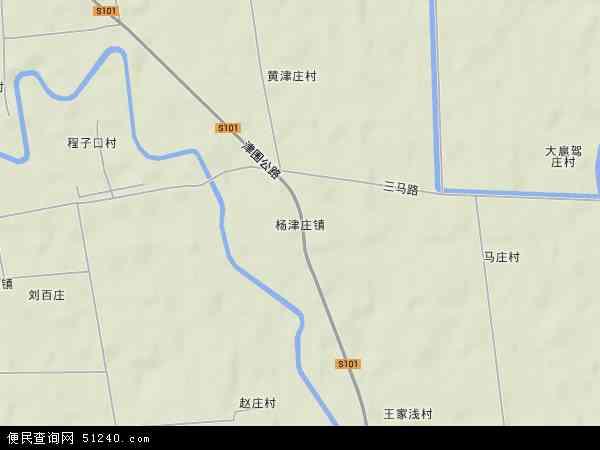 中国天津市蓟县杨津庄镇地图(卫星地图)