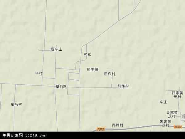 中国山东省济宁市汶上县苑庄镇地图(卫星地图)