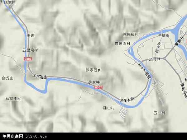 中国陕西省榆林市绥德县张家砭乡地图(卫星地图)
