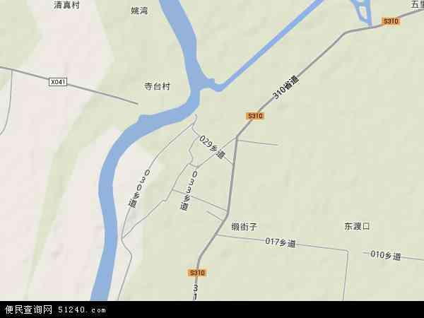 中国安徽省六安市寿县正阳关镇地图(卫星地图)