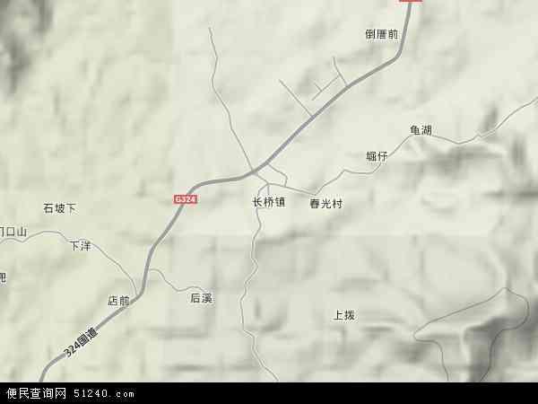 福建省漳州市漳浦县长桥农场地图(卫星地图)