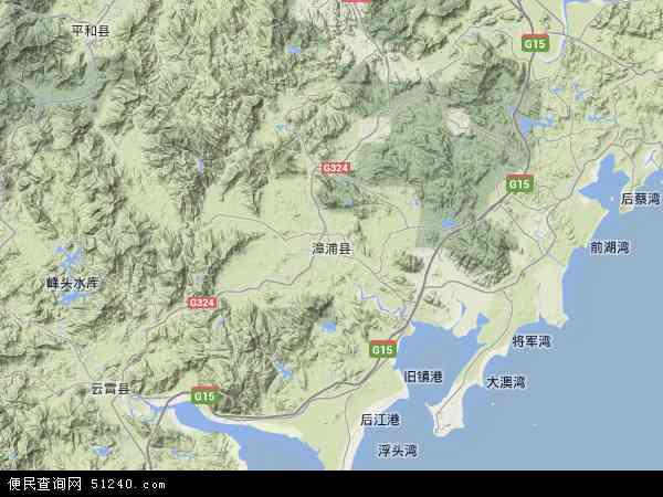 中国福建省漳州市漳浦县玳瑁山茶场地图(卫星地图)