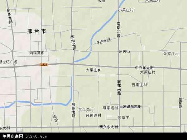 大梁庄乡地图 - 大梁庄乡卫星地图