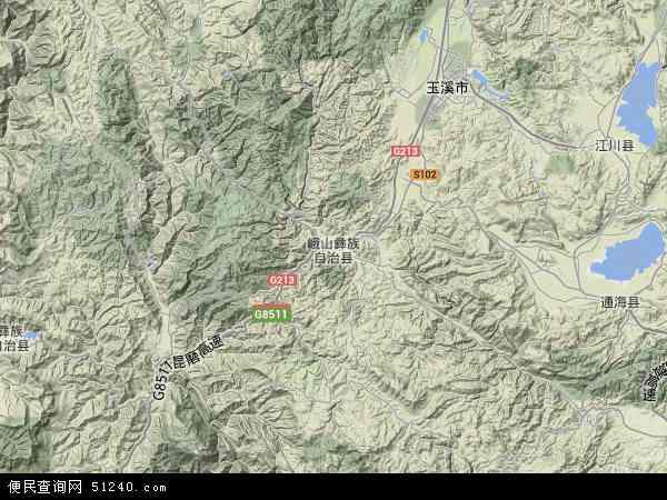 中国云南省玉溪市峨山彝族自治县地图(卫星地图)图片
