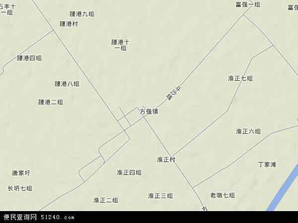 方强农场地图 - 方强农场卫星地图