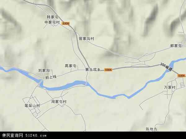 中国辽宁省葫芦岛市南票区黄土坎乡地图(卫星地图)