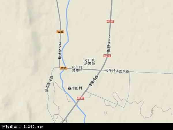塔城地区和布克赛尔蒙古自治县和什托洛盖镇地图