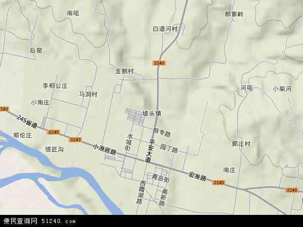 济源市坡头镇地图 济源市坡头镇卫星地图 济源市坡头镇高清航拍地图