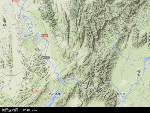 黔江农场地图 - 黔江农场卫星地图