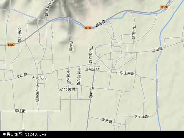 中国北京市平谷区山东庄镇地图(卫星地图)