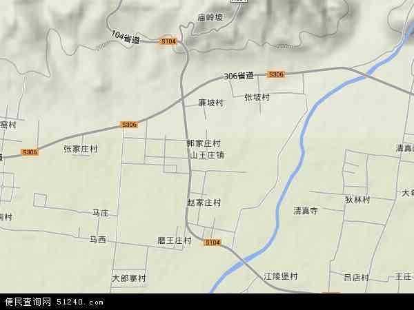 中国河南省焦作市沁阳市山王庄镇地图(卫星地图)