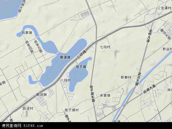 中国湖北省武汉市江岸区塔子湖街办事处地图