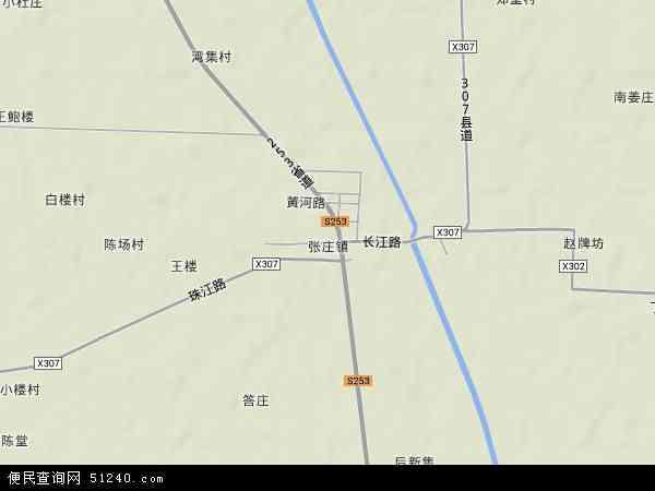 中国江苏省徐州市沛县张庄镇地图(卫星地图)
