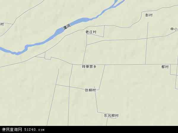 中国河北省邯郸市临漳县砖寨营乡地图(卫星地图)